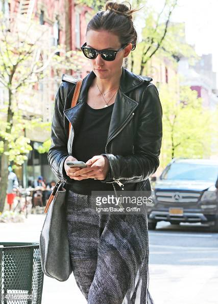 Olivia Wilde is seen on April 30 2015 in New York City
