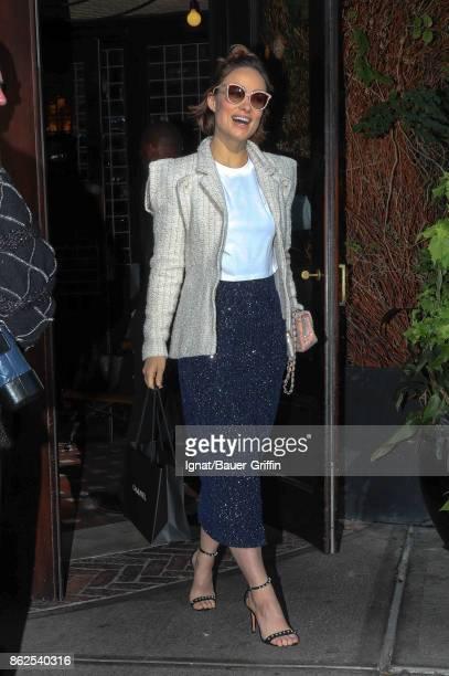 Olivia Wilde is seen on October 17 2017 in New York City