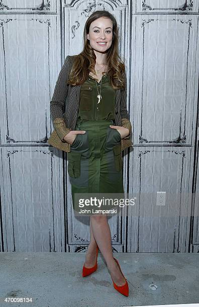 Olivia Wilde of 'Meadowland'speak during AOL Build Speaker Series at AOL Studios In New York on April 17 2015 in New York City