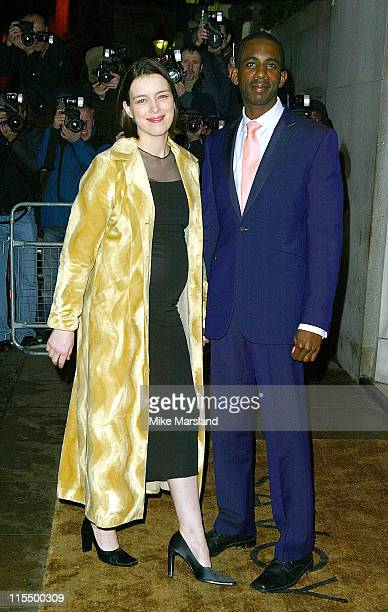 Olivia Williams and guest during The 2004 Evening Standard Film Awards Arrivals at The Savoy London WC2 in London Great Britain