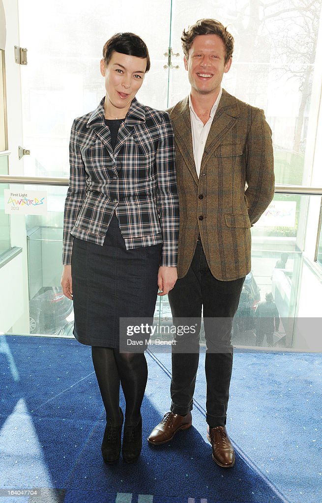 Olivia Williams (L) and James Norton attend the First Light Awards at Odeon Leicester Square on March 19, 2013 in London, England.