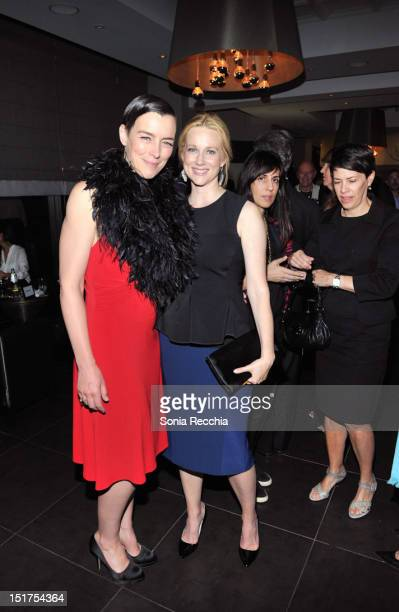 Olivia Williams and Laura Linney attend 'Hyde Park On The Hudson' Post Gala Event 2012 Toronto International Film Festival on September 10 2012 in...