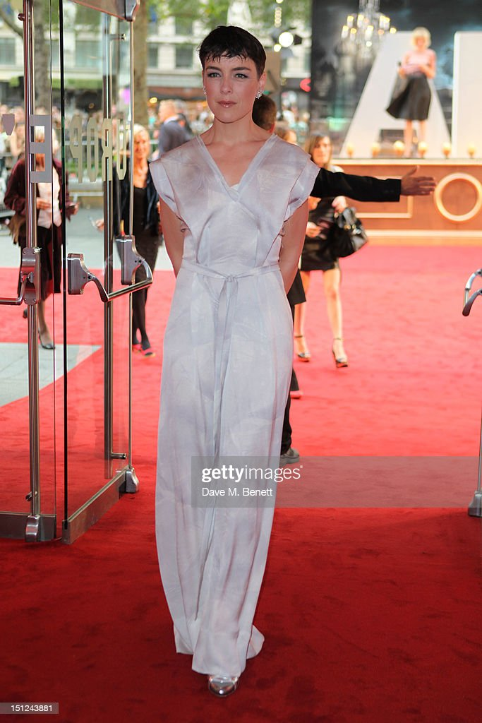Olivia Williams arrives at the World premiere of 'Anna Karenina' at The Odeon Leicester Square in London, England.