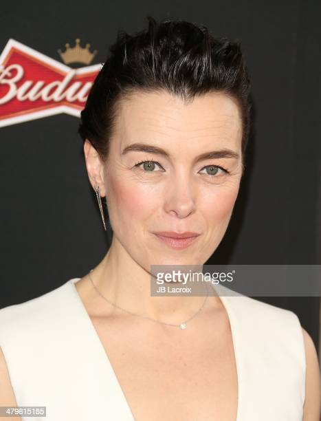 Olivia Williams attends the 'Sabotage' Los Angeles premiere held at Regal Cinemas LA Live on March 19 2014 in Los Angeles California