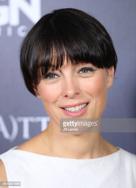 Olivia Williams attends WGN America's 'Manhattan' Panel during TCA at The Beverly Hilton Hotel on July 9 2014 in Beverly Hills California