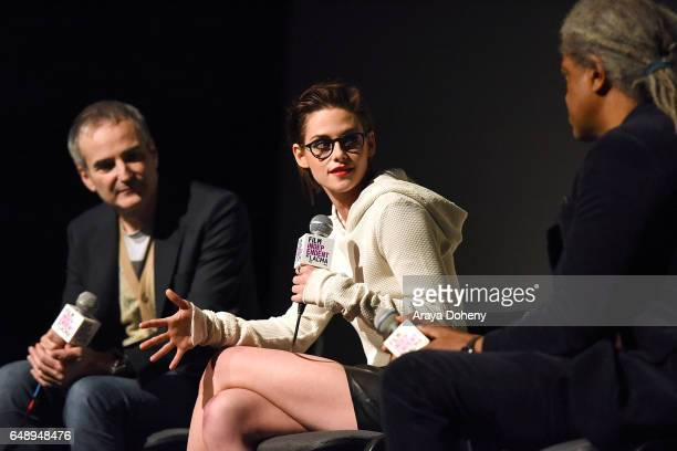 Olivier Assayas and Kristen Stewart attend the Film Independent at LACMA screening and QA of 'Personal Shopper' at Bing Theatre at LACMA on March 6...