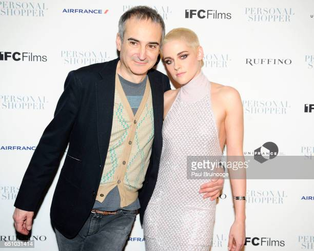 Olivier Assayas and Kristen Stewart attend the 'Personal Shopper' New York Premiere at Metrograph on March 9 2017 in New York City