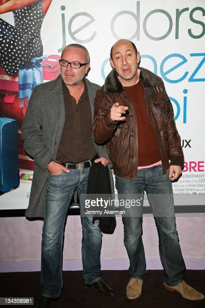 Olivier Baroux and Kad Merad attends the 'Ce Soir Je Dors Chez Toi' premiere at the UGC Ciné Cité Bercy on November 19 2007 in Paris France