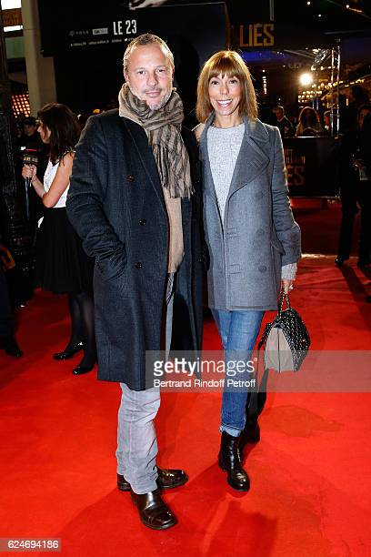 Olivier Bialobos and Mathilde Favier attend the 'Allied Allies' Paris Premiere at Cinema UGC Normandie on November 20 2016 in Paris France