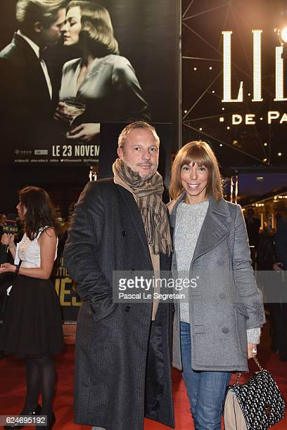 Olivier Bialobos and Mathilde Favier attend the Paris Premiere of the Paramount pictures title 'Allied' on November 20 2016 at Cinema UGC Normandie...
