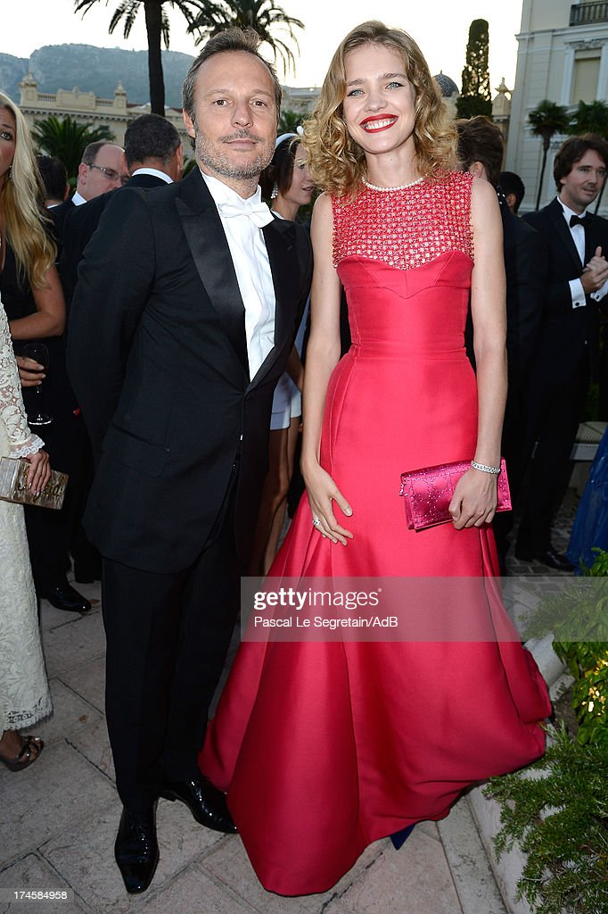 Olivier Bialobos and Natalia Vodianova attend the cocktail at the 'Love Ball' hosted by Natalia Vodianova in support of The Naked Heart Foundation at Opera Garnier on July 27, 2013 in Monaco, Monaco.