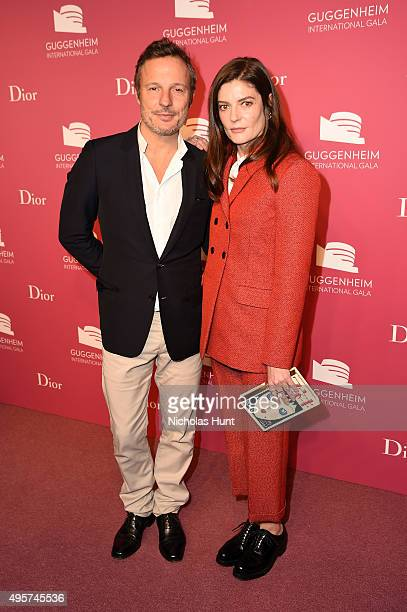 Olivier Bialobos Dior and Chiara Mastroianni attend the 2015 Guggenheim International Gala PreParty made possible by Dior at Solomon R Guggenheim...