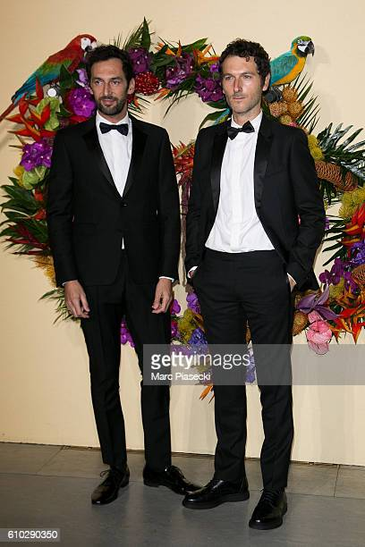 Olivier Coursier and Simon Buret attend the Opening Gala Season at Opera Garnier on September 24 2016 in Paris France