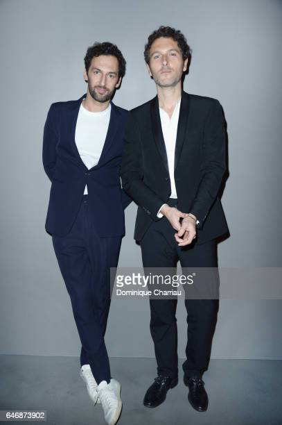 Olivier Coursier and Simon Buret from Aaron attend the HM Studio show as part of the Paris Fashion Week on March 1 2017 in Paris France