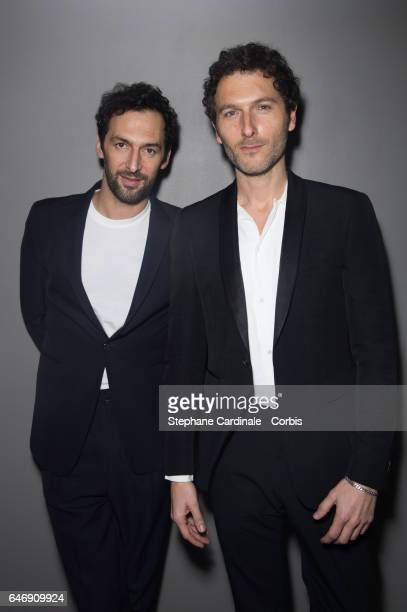 Olivier Coursier and Simon Buret of AaRON attend the HM Studio show as part of the Paris Fashion Week on March 1 2017 in Paris France
