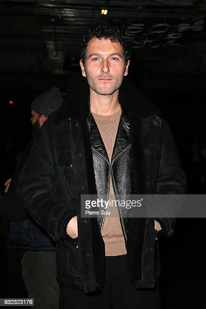 Olivier Coursier attends the Ami Alexandre Mattiussi Menswear Fall/Winter 20172018 show as part of Paris Fashion Week on January 21 2017 in Paris...