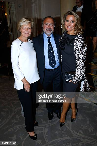 Olivier Dassault and his wife Natacha attend the Charity Dinner to Benefit 'Claude Pompidou Foundation' following the 'Cezanne et Moi' movie Premiere...