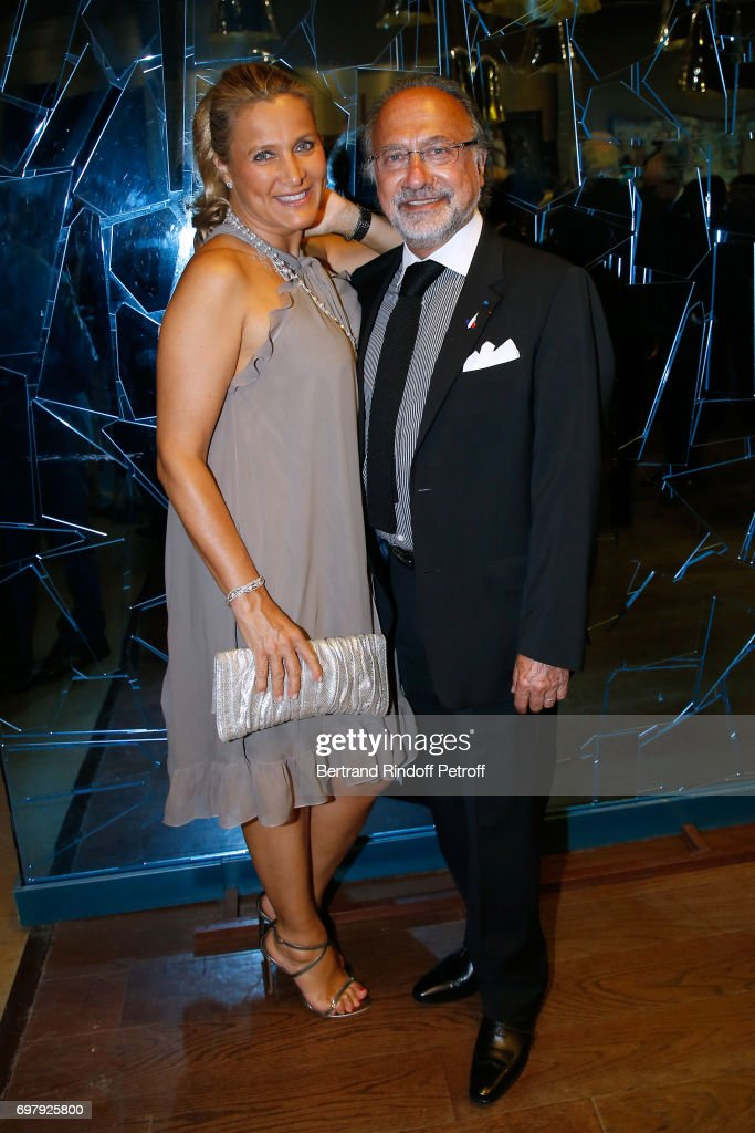 Olivier Dassault and his wife Natacha Nikolajevic attend the 'Societe ses Amis du Musee d'Orsay' : Dinner Party at Musee d'Orsay on June 19, 2017 in Paris, France.
