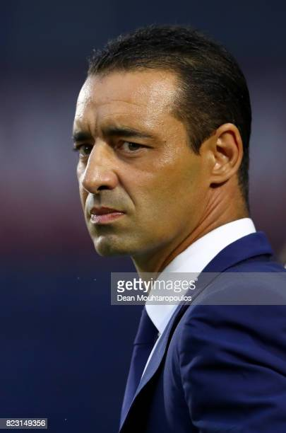 Olivier Echouafni head coach of France looks on before the Group C match between Switzerland and France during the UEFA Women's Euro 2017 at Rat...