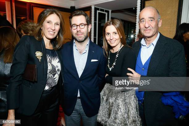 Olivier Gabet Clemence Krzentowski and Didier Krzentowski attend the Mastermind Magazine launch dinner as part of Paris Fashion Week Womenswear...