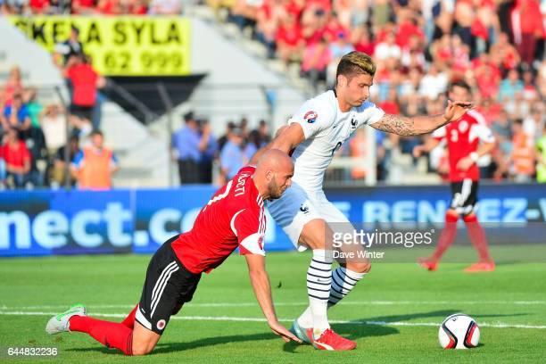 Olivier GIROUD / Arlind AJETI Albanie / France Match Amical Tirana Photo Dave Winter / Icon Sport