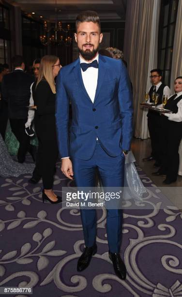 Olivier Giroud attends the 8th Global Gift Gala London in aid of Great Ormond Street Hospital Children's Charity at Corinthia Hotel London on...