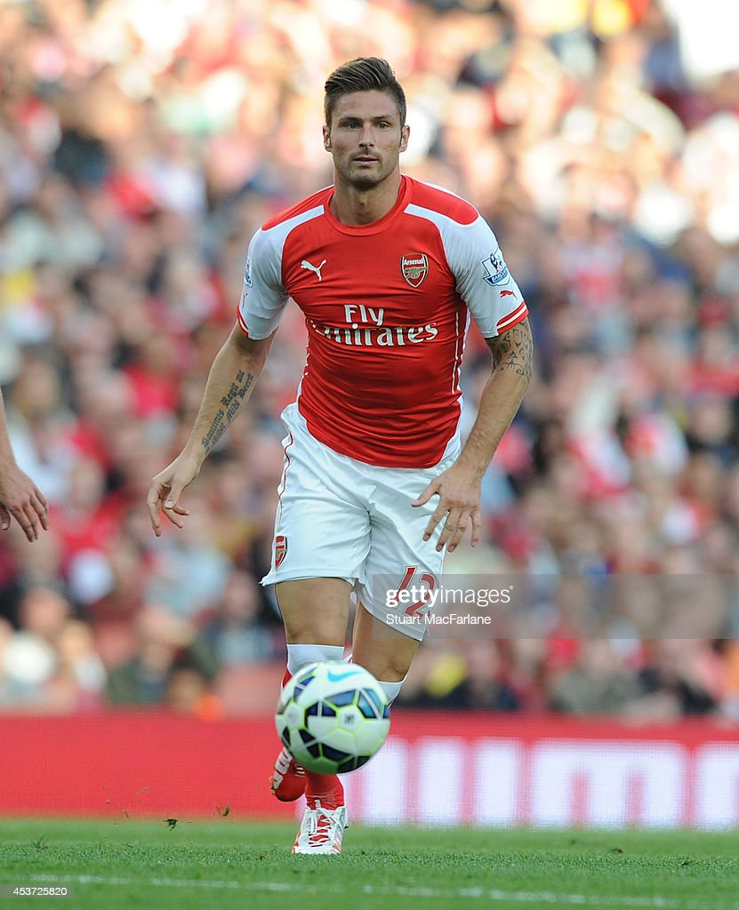 <a gi-track='captionPersonalityLinkClicked' href=/galleries/search?phrase=Olivier+Giroud&family=editorial&specificpeople=5678034 ng-click='$event.stopPropagation()'>Olivier Giroud</a> of Arsenal during the Barclays Premier League match between Arsenal and Crystal Palace at Emirates Stadium on August 16, 2014 in London, England.