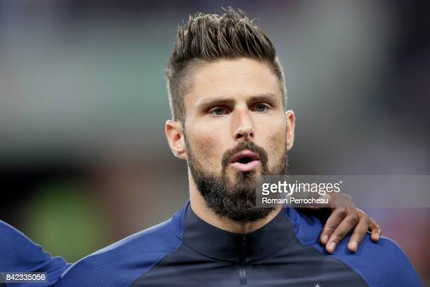 Olivier Giroud of France looks on beofre the FIFA 2018 World Cup Qualifier between France and Luxembourg at Stadium on September 3 2017 in Toulouse...