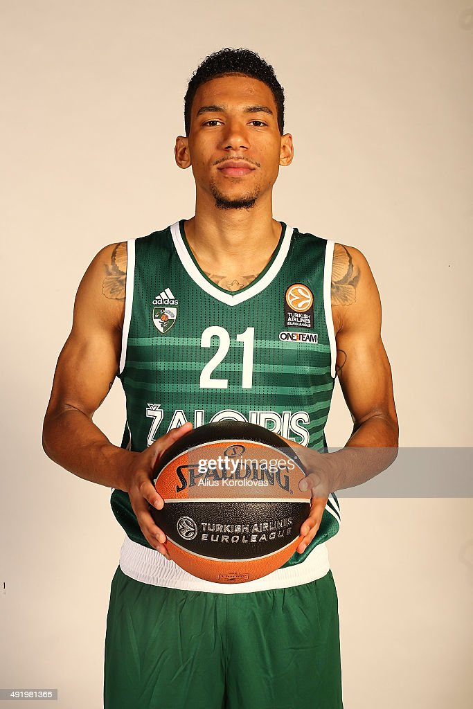 <a gi-track='captionPersonalityLinkClicked' href=/galleries/search?phrase=Olivier+Hanlan&family=editorial&specificpeople=10135196 ng-click='$event.stopPropagation()'>Olivier Hanlan</a>, #21 of Zalgiris Kaunas poses during the 2015/2016 Turkish Airlines Euroleague Basketball Media Day at Zalgirio Arena on September 28, 2015 in Kaunas, Lithuania.