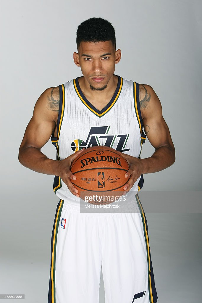 <a gi-track='captionPersonalityLinkClicked' href=/galleries/search?phrase=Olivier+Hanlan&family=editorial&specificpeople=10135196 ng-click='$event.stopPropagation()'>Olivier Hanlan</a> #21 of the Utah Jazz pose for photos at Zions Basketball Center on June 27, 2015 in Salt Lake City, Utah.