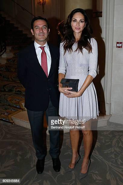 Olivier Josse and Tasha de Vasconcelos attend the Charity Dinner to Benefit 'Claude Pompidou Foundation' following the 'Cezanne et Moi' movie...