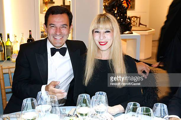 Olivier Josse and Victoire de Castellane attend the 27th 'Biennale des Antiquaires' Pre Opening at Le Grand Palais on September 9 2014 in Paris France