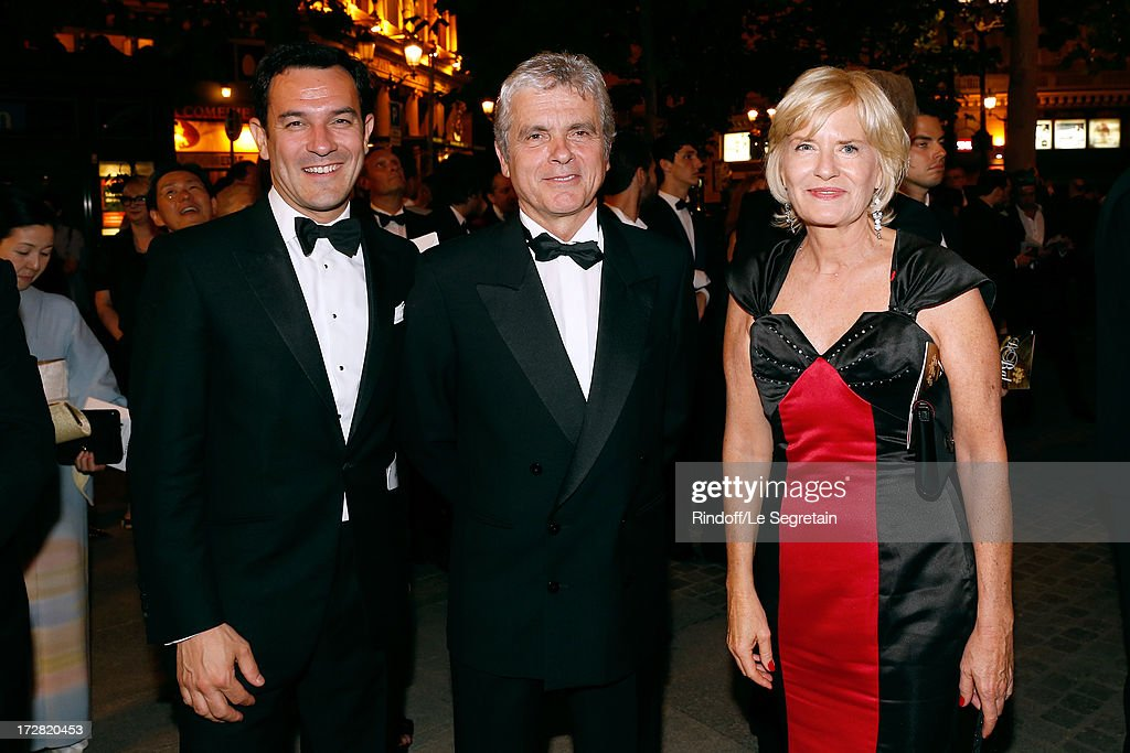 Olivier Josse, Claude Serillon and his wife journalist Catherine Ceylac attend Le Grand Bal De La Comedie Francaise held at La Comedie Francaise on July 4, 2013 in Paris, France.