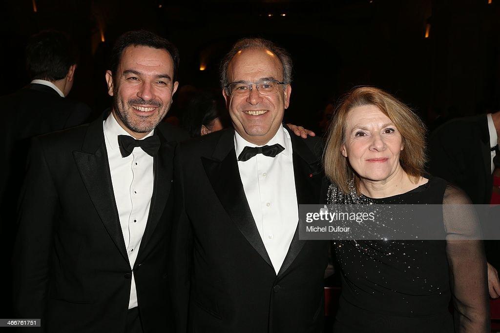 Olivier Josse David Khayat and Catherine Pegard attend the David Khayat Association 'AVEC' Gala Dinner on February 3 2014 in Versailles France