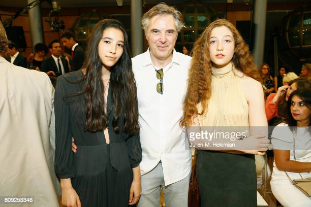 Olivier Lapidus and his daughters Koukla and Mila attend the Gyunel Haute Couture Fall/Winter 20172018 show as part of Haute Couture Paris Fashion...