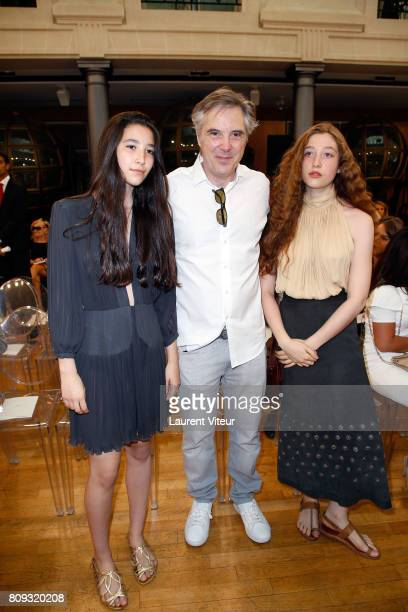 Olivier Lapidus and his daughters Milla and Koukla attend Gyunel Show during Paris Fashion Week as part of Haute Couture Fall/Winter 20172018 at...