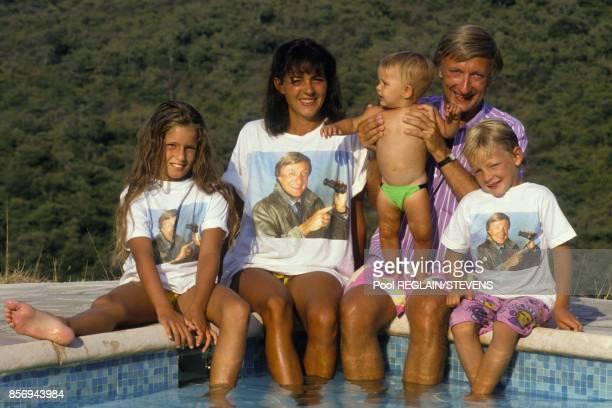 Olivier Lejeune en vacances en famille le 14 aout 1990 en France