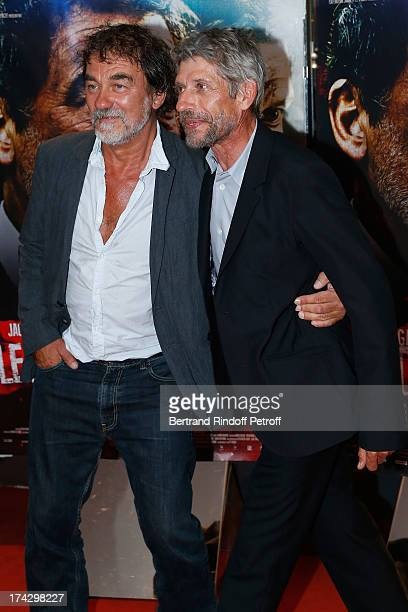 Olivier Marchal and Jacques Gamblin attend the Paris Premiere of 'Le Jour Attendra' on July 23 2013 in Paris France
