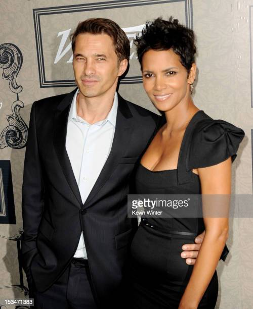 Olivier Martinez and actress Halle Berry arrives at Variety's Power of Women presented by Lifetime at the Beverly Wilshire Hotel on October 5 2012 in...