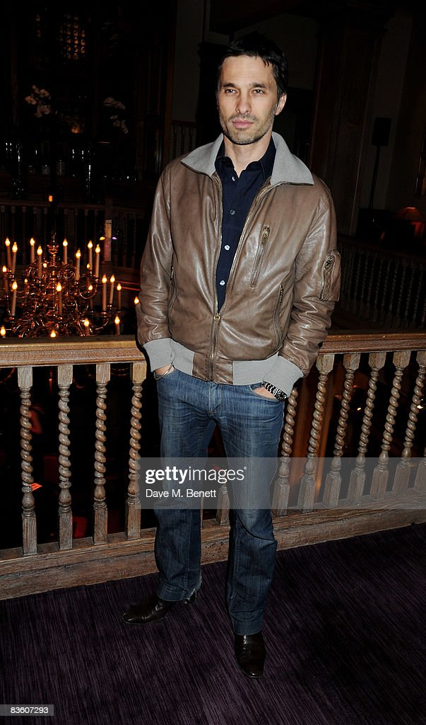 Olivier Martinez attends the VIP launch of Hollywood Dominos to benefit Charlize Theron's Africa Outreach Project at Mosimann's on November 7, 2008 in London, England.
