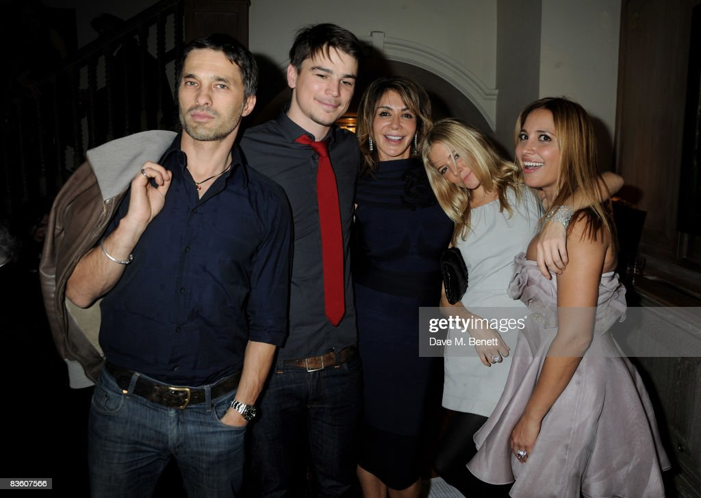 Olivier Martinez, Josh Hartnett, Giannina Facio, Sienna Miller and Daya Fernandez attend the London VIP launch event of Hollywood Domino, at Mosimann's on November 7, 2008 in London, England.