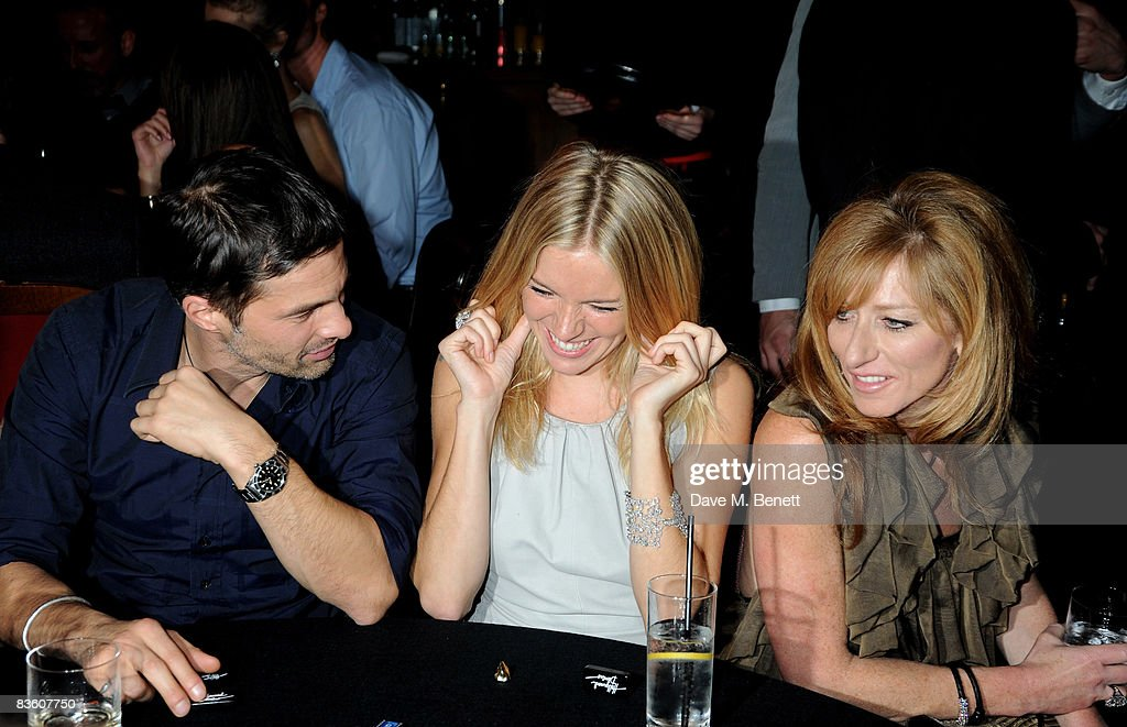 Olivier Martinez, Sienna Miller and Kelly Hoppen attend the London VIP launch event of Hollywood Domino, at Mosimann's on November 7, 2008 in London, England. The evening will benefit Charlize Theron's Africa Outreach Project.