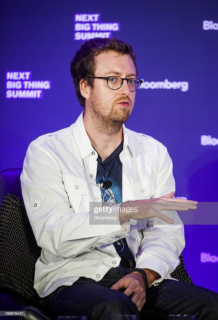 Olivier Michon, chief technology officer of Songpop, speaks at the Bloomberg Next Big Thing Summit in New York, U.S., on Monday, Sept. 16, 2013. The conference convenes the most influential investors and industry leaders in innovation and science to explore the great frontiers of how technology is changing the way we live, work, and interact. Photographer: Michael Nagle/Bloomberg via Getty Images