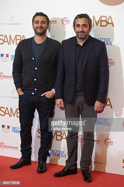 Olivier Nakache and Eric Toledano attend the 'Samba' premiere at the Palafox cinema on February 12 2015 in Madrid Spain