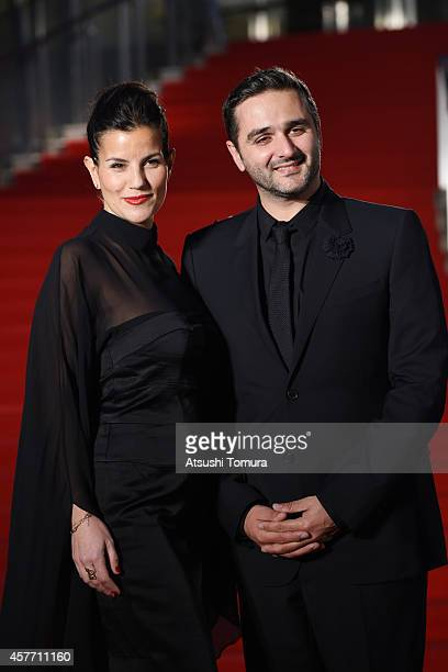 Olivier Nakache and his wife arrive at the opening ceremony during the 27th Tokyo International Film Festival at Roppongi Hills on October 23 2014 in...