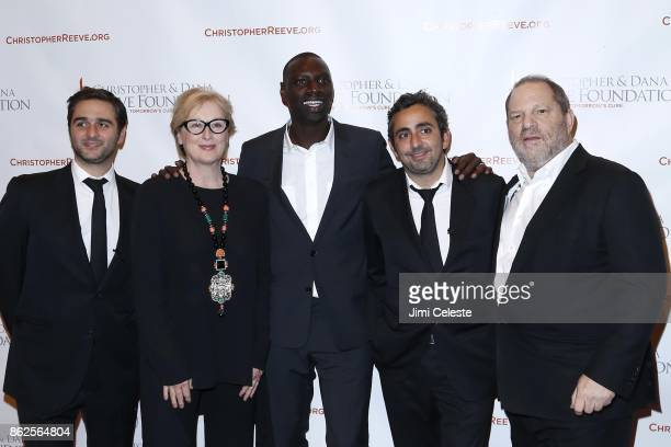 Olivier Nakache Meryl Streep Omar Sy Eric Toledano Harvey Weinstein attend CHRISTOPHER AND DANA REEVE FOUNDATION Host A MAGICAL EVENING GALA at...