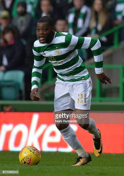 Olivier Ntcham of Celtic in action during the UEFA Champions League Qualifying Second Round Second Leg match between Celtic and Linfield at Celtic...
