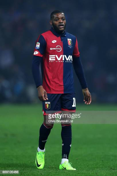 Olivier Ntcham of Genoa CFC looks on during the Serie A match between Genoa CFC and UC Sampdoria at Stadio Luigi Ferraris on March 11 2017 in Genoa...