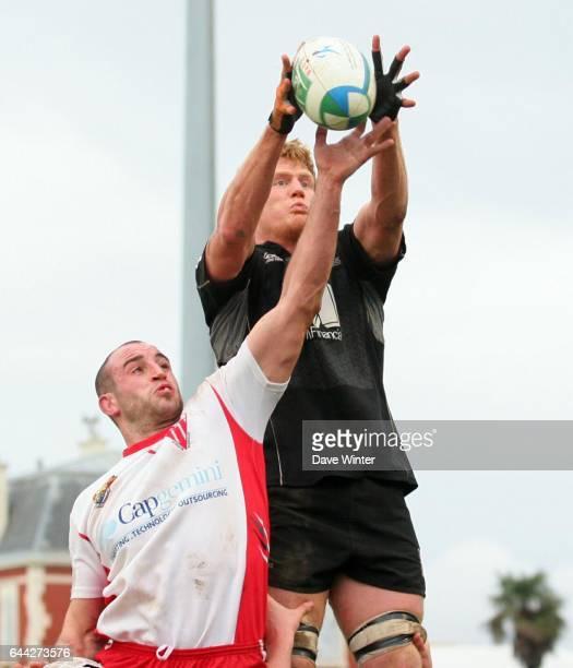 Olivier OLIBEAU / Hugh VYVYAN Biarritz / Saracens Heineken Cup Photo Dave Winter / Icon Sport