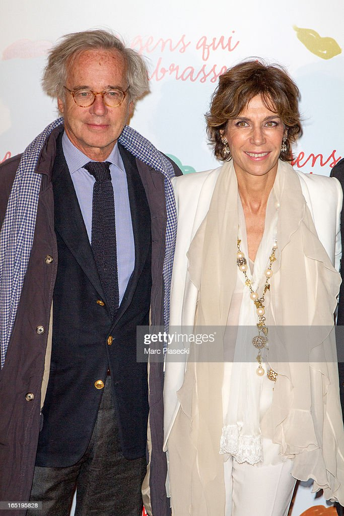 Olivier Orban and Christine Orban attend the 'Des Gens Qui S'embrassent' Premiere at Cinema Gaumont Marignan on April 1, 2013 in Paris, France.